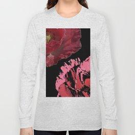 red poppy 2 Long Sleeve T-shirt