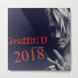 Keith Urban Grafitti U 2018 Metal Print