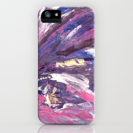 Abstract in Purple and Glitter iPhone Case