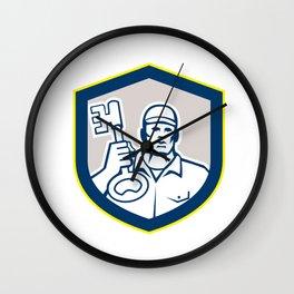 Locksmith Carry Key Shield Retro Wall Clock