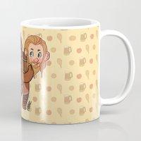 fili Mugs featuring Fili and Kili by Hattie Hedgehog