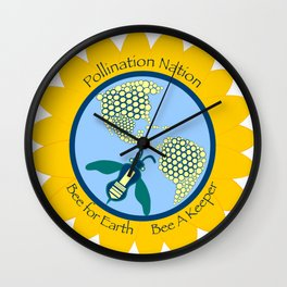 Bees for Earth Wall Clock