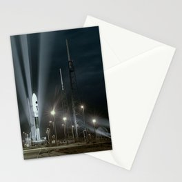 Why Do Rockets Launch At Night Stationery Cards