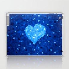 Winter Blue Crystallized Abstract Heart Laptop & iPad Skin