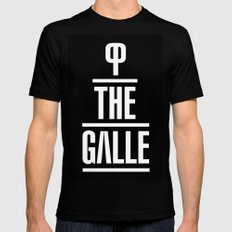 P the GALLE Mens Fitted Tee MEDIUM Black