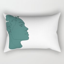what's on your mind Rectangular Pillow