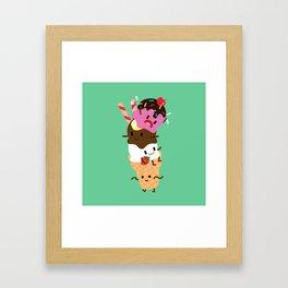 Neapolitan Ice Cream Framed Art Print
