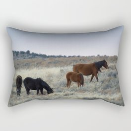 wild horses Rectangular Pillow