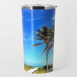 Palm Trees Caribbean Ocean Travel Mug