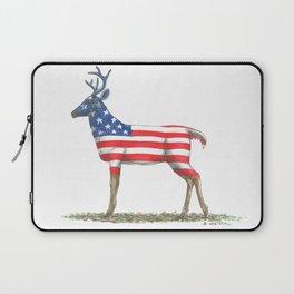 USA Whitetail Deer Laptop Sleeve