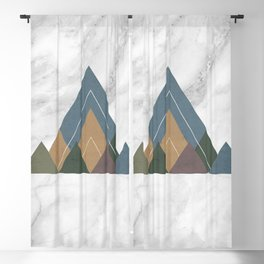 Geometric Mountains Blackout Curtain