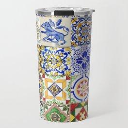 Azulejo — Portuguese ceramic #15 Travel Mug