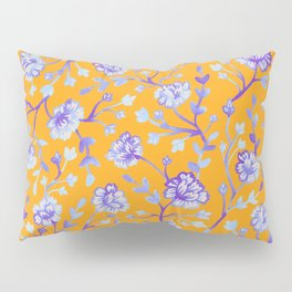 Watercolor Peonies - Sapphire Marigold Pillow Sham