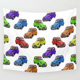 2cv pattern small Wall Tapestry