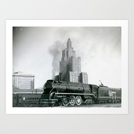 NNH Engine and Superman Building, Providence Art Print