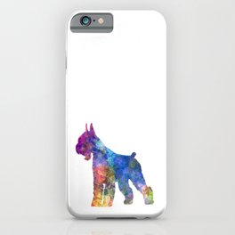 Giant Schnauzer dog in watercolor iPhone Case