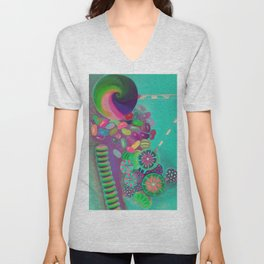 Lollipop & Jelly Beans Unisex V-Neck