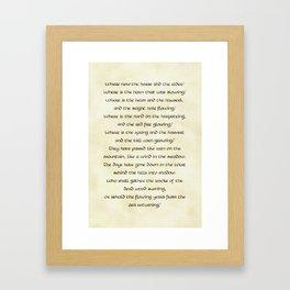 Lament of the Rohirrim Framed Art Print