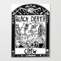 Black Death Crew Canvas Print