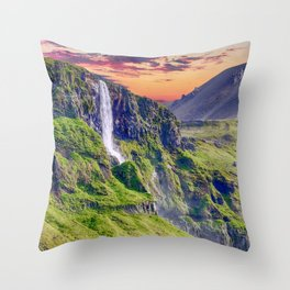 Downward Flow Throw Pillow