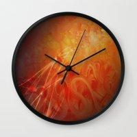 supernatural Wall Clocks featuring Supernatural  by Artist Gaya