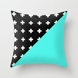 Memphis pattern 78 Throw Pillow