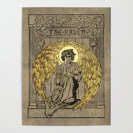 The Raven. 1884 edition cover Poster