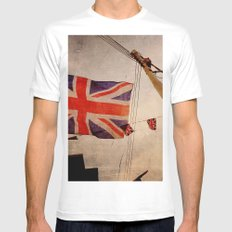 Union jacked Mens Fitted Tee White MEDIUM