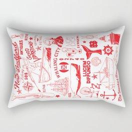 New Bedford Massachusetts Print Rectangular Pillow