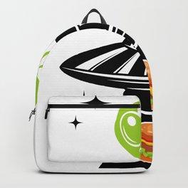 Alien Hamburger Ufo Alien Spaceship Space Backpack