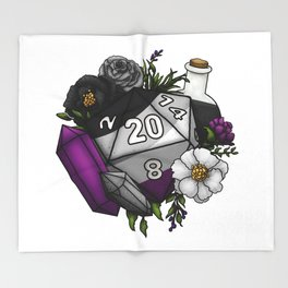 Pride Asexual D20 Tabletop RPG Gaming Dice Throw Blanket