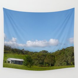 Farm building in a rural view Wall Tapestry
