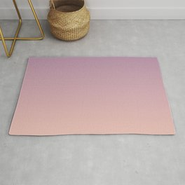 Sunset Gradient Purple Pink Peach Coral Rug