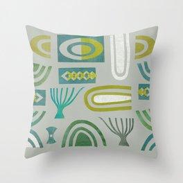 Green bits Throw Pillow