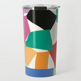 Colorful Collage Matisse Inspired Travel Mug