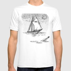 message in a bottle Mens Fitted Tee MEDIUM White