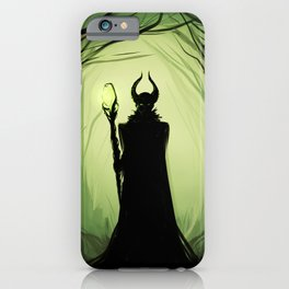 Maleficent woods iPhone Case