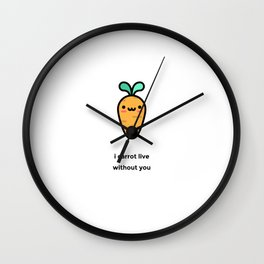JUST A PUNNY CARROT JOKE! Wall Clock