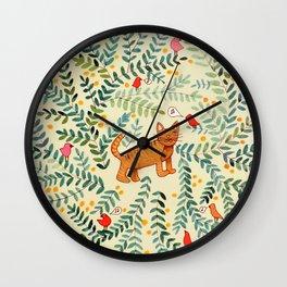 minou jaune (this yellow cat) Wall Clock