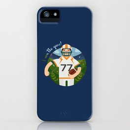 Rugby player iPhone Case