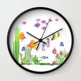 Aquarium colorful Fish Wall Clock