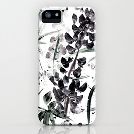 Lupinus #2 (white) iPhone Case
