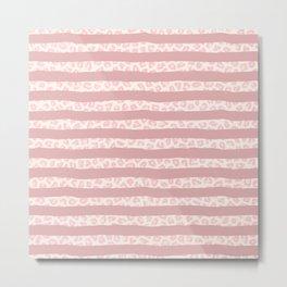 Modern coral watercolor brushstrokes pink animal print Metal Print