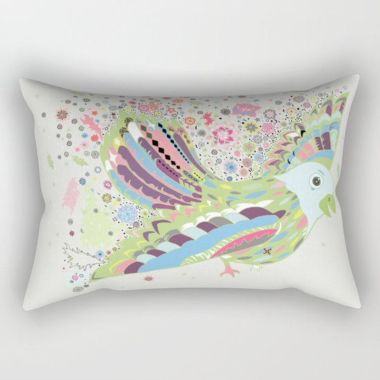 Flying with flowers Rectangular Pillow