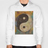 yin yang Hoodies featuring Yin Yang by Michael Creese