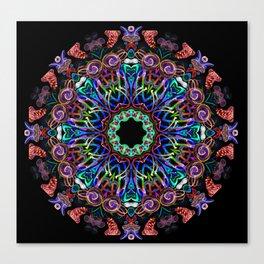 LED Hoop Mandala w/ Fire Canvas Print