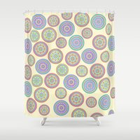zentangle Shower Curtains featuring zentangle by Alapapaju