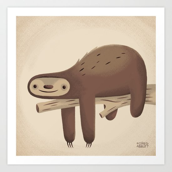 All in Good Time (Sloth) Art Print