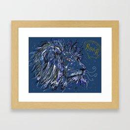 Lion Roar Framed Art Print