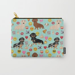 Dachshund emoji dog breed funny emojis pet pure breeds Carry-All Pouch